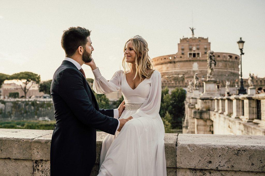 Postboda en Roma Castell Sant'Angelo