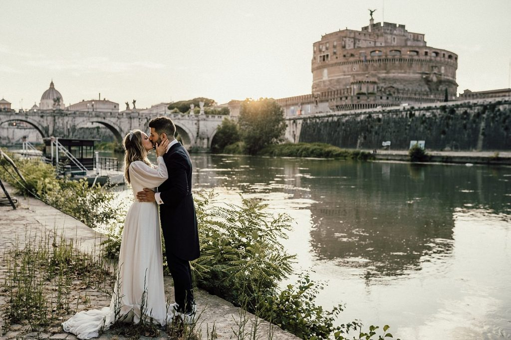 Postboda en Roma Castel Sant'Angelo