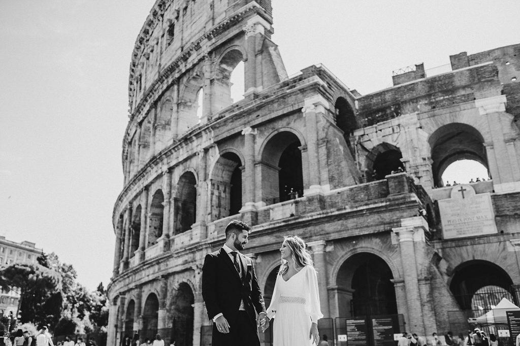 Postboda en Roma Coliseo