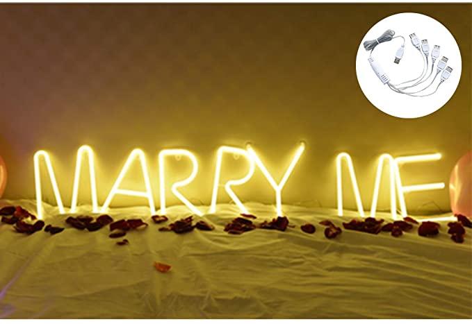 pedir matrimonio con iluminación