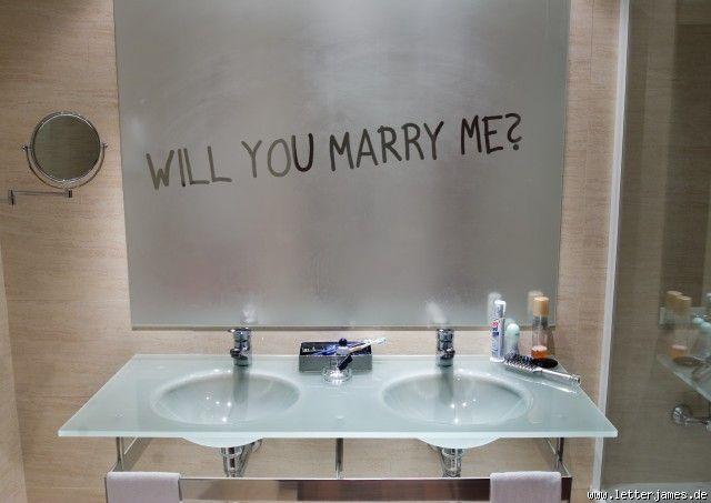 pedir matrimonio en el espejo
